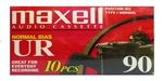 Maxell Normal Bias UR 90-Minute Audio Cassette Tape 10 pack