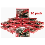 Maxell Normal Bias UR 90-Minute Audio Cassette Tape 20 pack